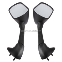 New Pair Black Motorcycle Side Mirrors Rear View Mirror For YAMAHA YZF R1 01-03 YZF R6 01-02 FZS600 FZS 600 FAZR