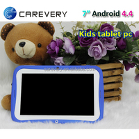 Kids 7 inch 8GB quad core android 4.4 educational tablets from China factory