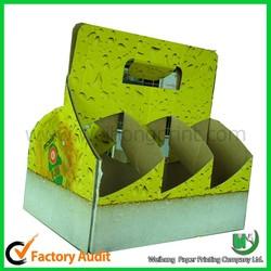china wholesale custom cardboard wine carrier
