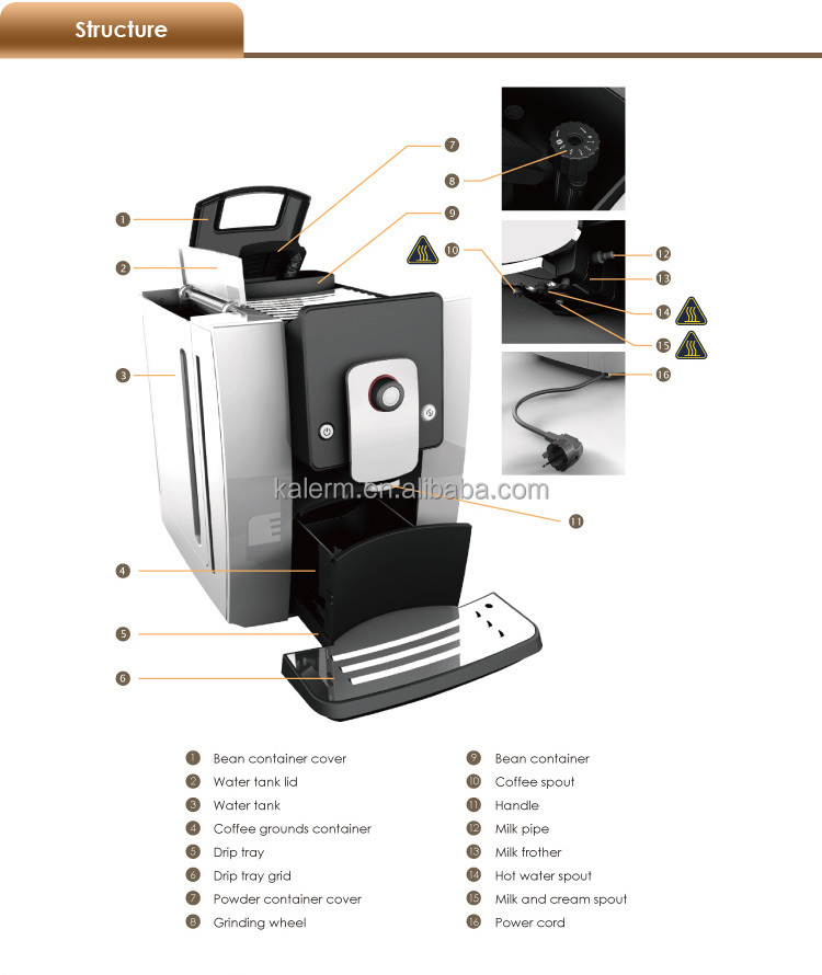 Mid To High End Fully Automatic Coffee Barista One Touch
