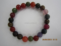 Natural Round bead mixed stone faceted for unisex bracelet