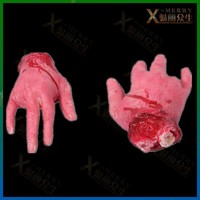 X-MERRY Haunted house fake bloody chopped hand halloween prop Prank gangster severed Hand