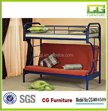 Modern stylish C metal sofa bunk bed for kids