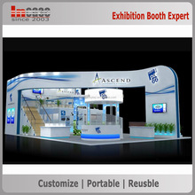 Customized aluminum exhibition booth stand contractor