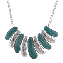 Alloy eye-popping girls oval metal necklace