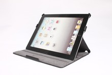 Magnet closure leather protective case for ipad 4
