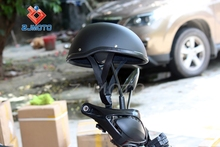 HT-5009-MB ABS Flat Black Half Helmet, waterproof Shockproof high protective Adult new model Half Helmet motorcycle, Medium