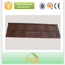 alu-zinc steel color stone chip coated metal roofing tiles