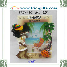 Jamaica picture frame rasta palm tree and turtle decoration