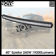 High Quality 40Inch LED Off-road Light Bar 240W Double Row 3W Curved Lens Driving Light Bar for SUV,JEEP ,Pickup,Truck
