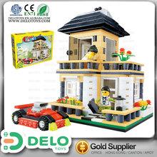productos de china bloques de construcción plástico ladrillo pequeño mi casa con coche DE0083149