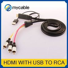 HDMI to 5 RCA RGB Component Cable rca to coaxial converter HDTV Cord Audio AV Video Converter