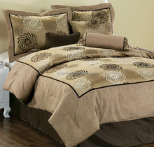 7Pcs Flocking Comforter Set