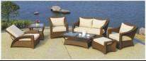 hotel furniture stainless steel rattan sofa set YT-1168C YT-1168T