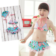 new arrival baby girl adorable flower antique nativity fabric swimming sets