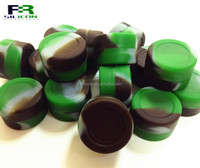 Electronic cigarette accessories 3 ml small cylinder Silicone Jar Container BHO Oil Wax