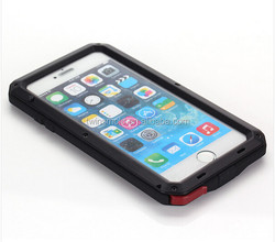 caterproof case for iphone 6 plus casehina supplier metal shockproof waterproof case for iphone 6 plus case