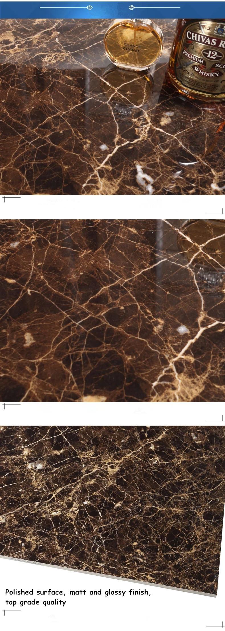 Disegno popolare marrone scuro colore ceramica pavimento per ...