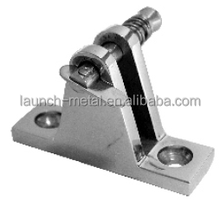 Marine Hardware Deck Hinge 90 Degree with Spring pin AISI316 butt hinge gemel Coupling hinge Angle Base with spring pin