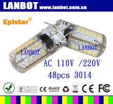 2015 ce rohs smd3014 48PCS LED SMD bulb instead led filament bulb/G4 Led lamp/low power led g4 bulb