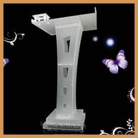 Acrylic podium with water bottle holder,speech lectern