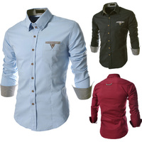 Washed clean wild long-sleeved denim shirt men trade N11