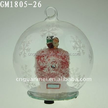 new design hotsell christmas ball blown glass for decoration