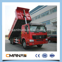 China top brand high performance howo big lorrys/tipper for sale with good price