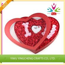 En forma de corazón baskest jabón color de rosa para venta al por mayor