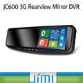 Coche 3g android gps navigation+gps tracker+1080p dvr espejo retrovisor interior, la cámara del coche delantero y trasero