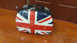 2015 hot sale polycarbonate PC travel cosmetic bag with UK printing