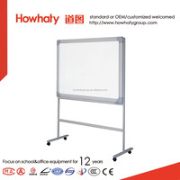 Howhaty double side mobile stand whiteboard with roller