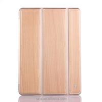 Folded protective case for Apple ipad mini3 threeFold slim transparent wood grain for iPad mini 3