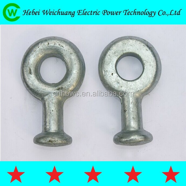 Hot galvanized kv ball and socket clevis cable end