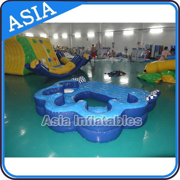 Giant inflatable floating island raft for 8 people buy for Aufblasbarer pool