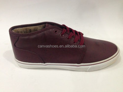 High top leather look Lace up custom made Casual shoes