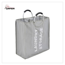 Durable hot sell 2 compartments laundry bag