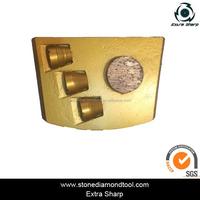 Single Round Segment 3 PCD DMY68 Diamond Metal Polishing Pads Abrasive Disc Diamond Floor Tools for Concrete