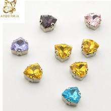 Loose Crystal Wholesale Light Peach Colored Fancy Shaped Rhinestones 10*14 Pearshape 4003 Fancy Shaped Crystal Stones