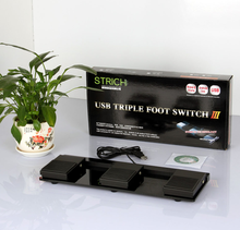 factory usb foot switch PC USB Triple action Foot switch