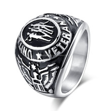 2015 Fashion Stainless Steel New Model Class Ring Men Jewelry for Memory