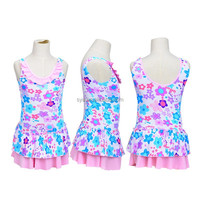 New arrive multi color girls one piece teenager swimwear