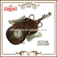 Guitar shaped wall clock H151M