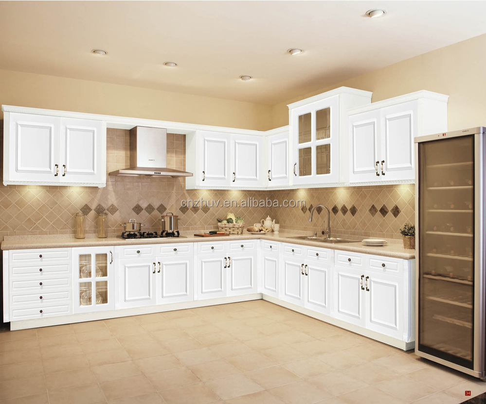 white gloss pvc mdf kitchen cabinet doors with good quality, View