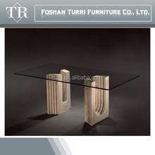 Modern Regular travertine base dining table