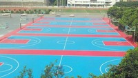 Outdoor PP interlocking sports soccer/badminton/tennis court floor sport