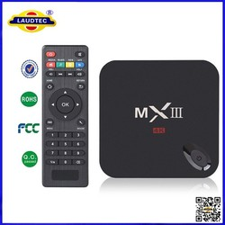 New Design H.265 Amlogic S802 Quad Core Google Android 4.4 Smart With Button TV Box XBMC mx3 android MXIII tv box
