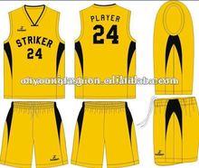 Fashion custom design basketball wear, basketball top and short, 65%poyester35%cotton,200gsm