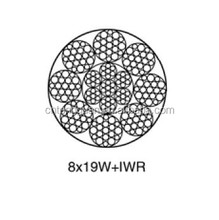Elevator steel wire rope 8*19W+IWR Diameter 8mm Made in China Lift steel wire rope