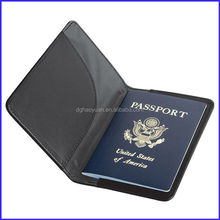 made in China navy leather traveling passport cover